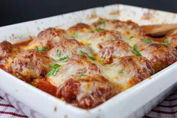 Easy Baked Parmesan Meatballs