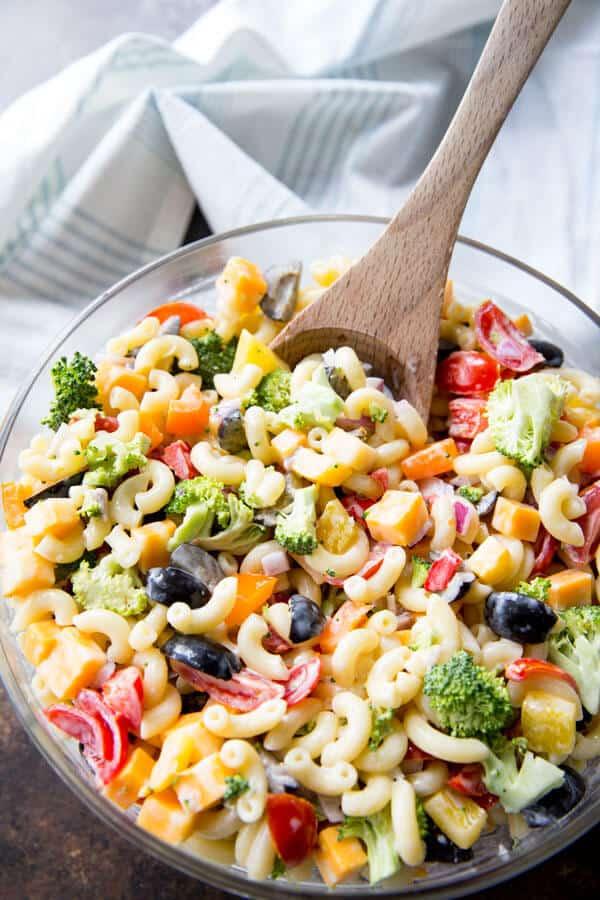 Rainbow Macaroni Salad