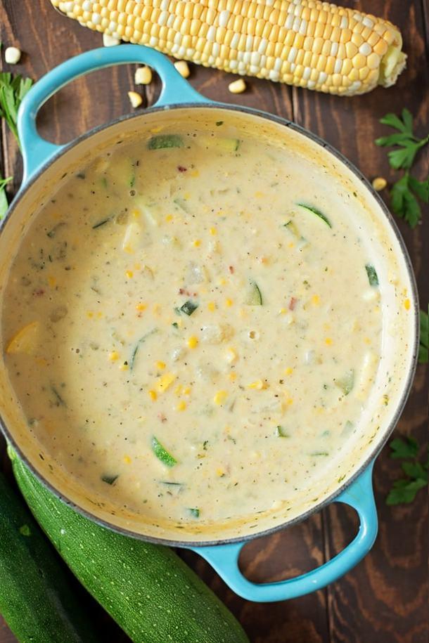Summer Corn And Zucchini Chowder Recipe
