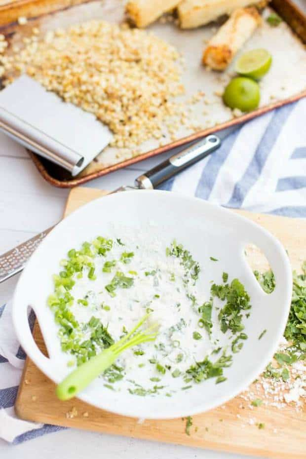 Ingredients for Mexican Street Corn Dip