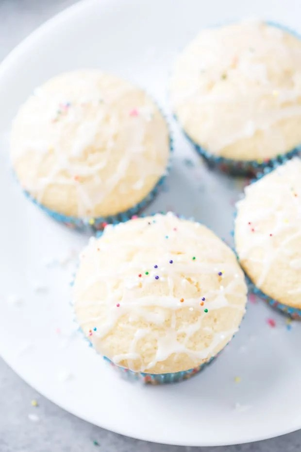 Sugar Cookie Muffins with Peppermint Mocha Glaze