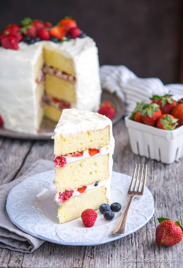A picture is worth a thousand words, and this Berry Chantilly Cake is worth a thousand pictures. It's as dazzling as a movie star and tastes even better than it looks!