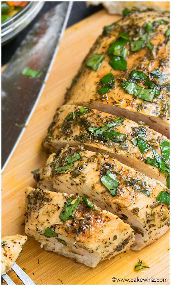 Quick and easy Greek chicken marinade recipe, requiring 10 minutes of prep time and simple ingredients. Makes the best baked or grilled Greek chicken.