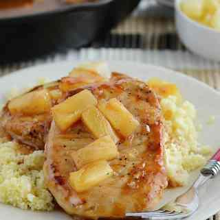 Hawaiian BBQ Pork Chops
