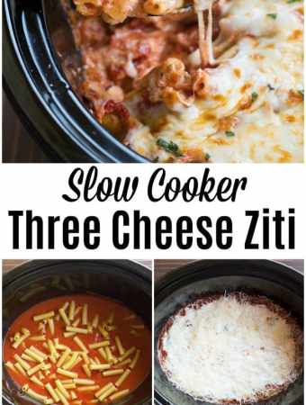 Slow Cooker Three Cheese Ziti