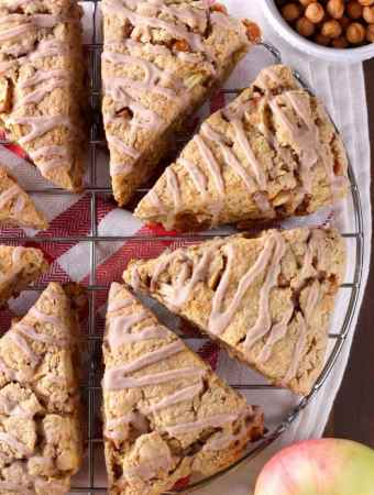 Spice Glazed Caramel Apple Scones