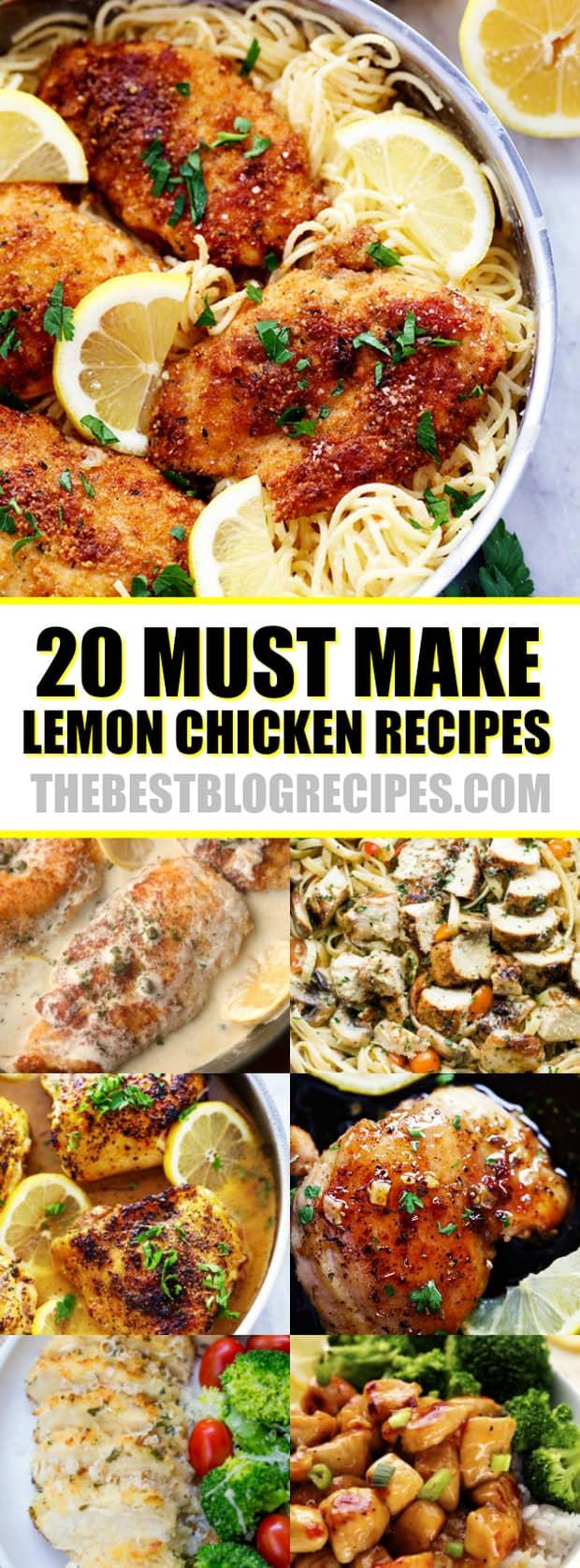 20 MUST MAKE LEMON CHICKEN RECIPES
