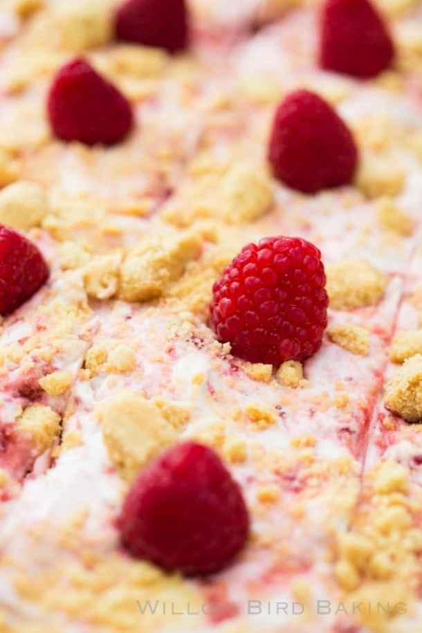 Raspberry Fool Sheet Cake Recipe