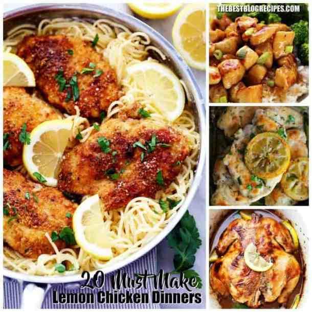 20 Must Make Lemon Chicken Dinners SQ