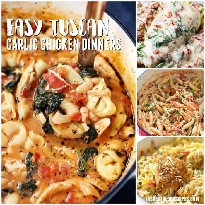 Easy Tuscan Garlic Chicken Dinners
