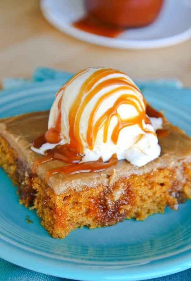 Pumpkin Poke Cake -- Part of Super Moist Poke Cake Recipes