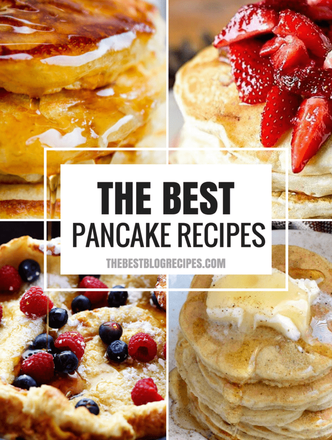 For tasty breakfast treats and lazy morning meals you need to try The Best Pancake Recipes! These recipes are the most delicious pancakes out there, and we know they will become your new breakfast favorites!