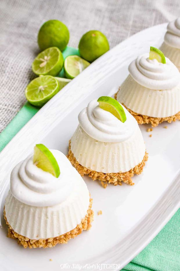 Key Lime Pie, cute little no-bake pies that will have your family raving for more!