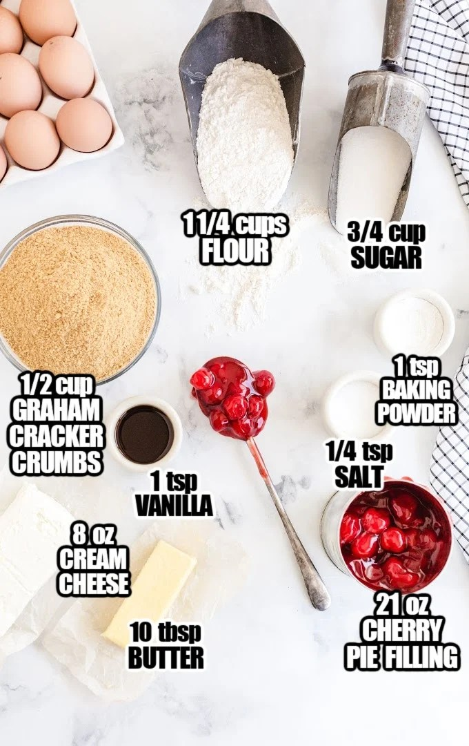 CherryCheesecake Cookies Ingredients