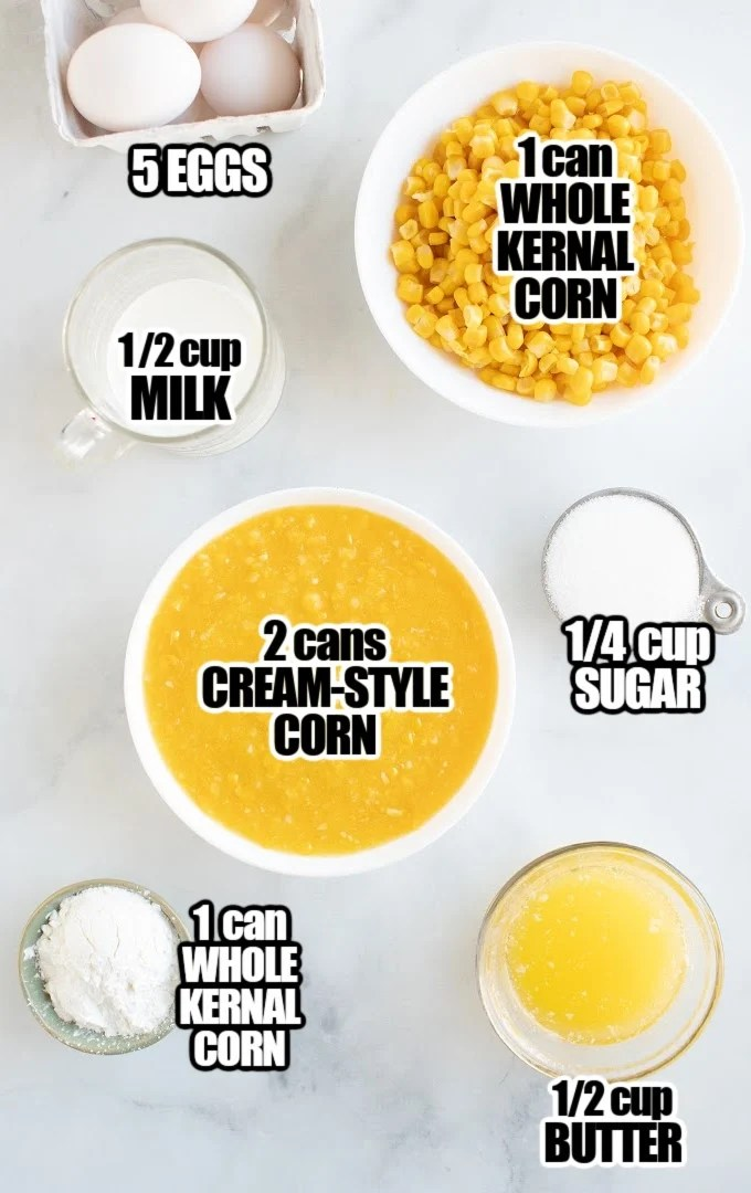 Corn Pudding Ingredients