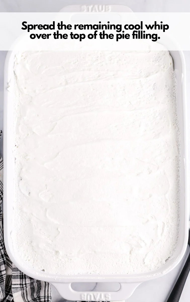 spread cool whip on top