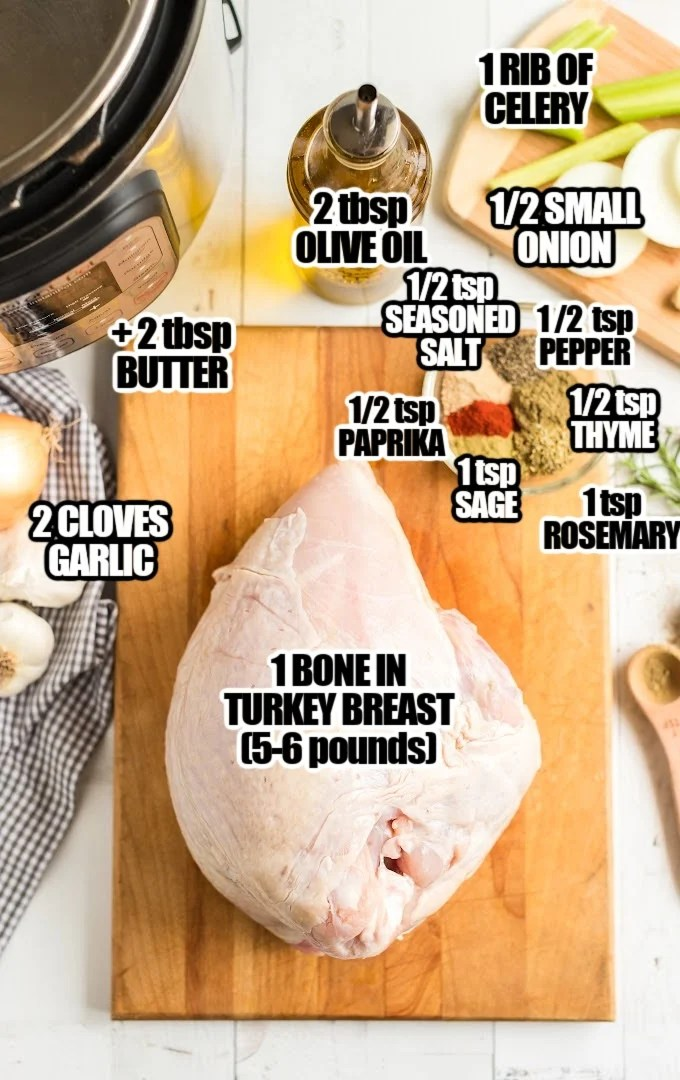 Instant Pot Turkey Breast Ingredients