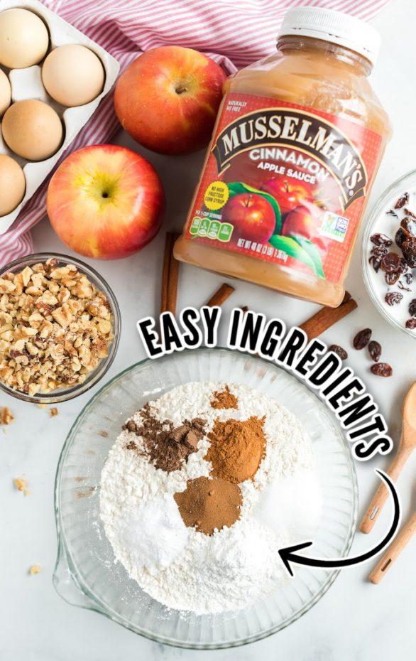 Applesauce Cake Recipe Ingredients