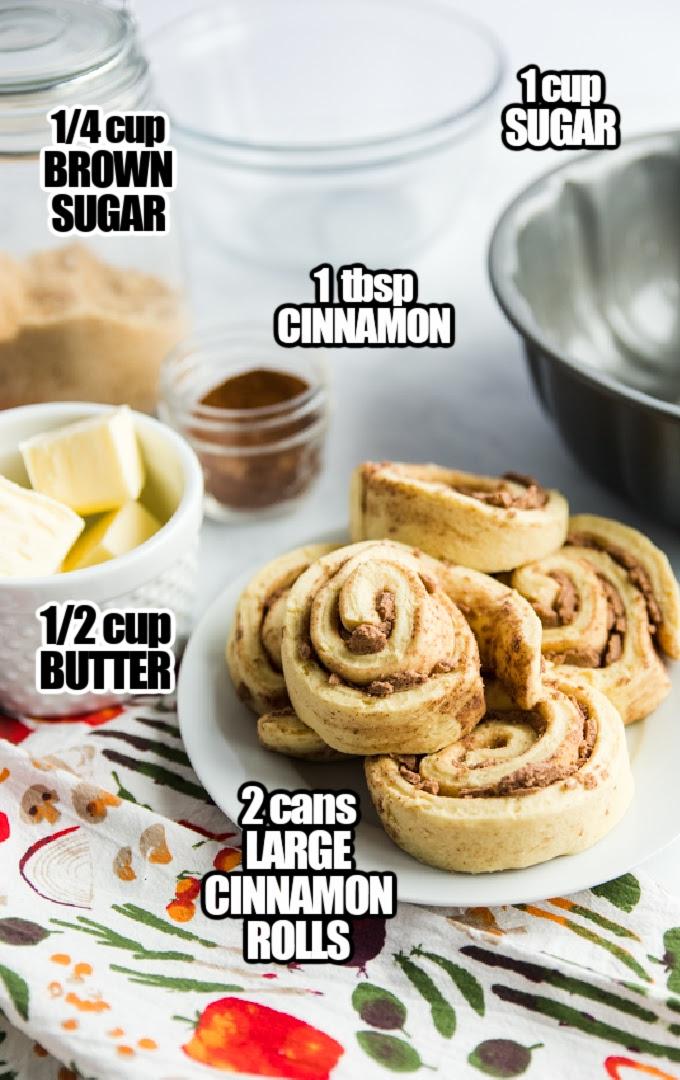 Cinnamon Roll Monkey Bread Ingredients