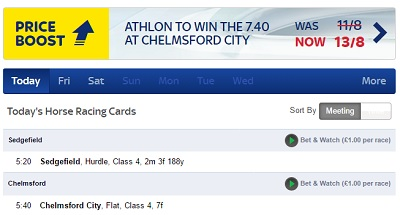 Sky Bet have price boosts on horse racing every day