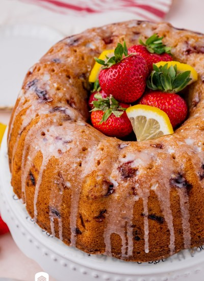 a freshly baked glazed cake on a plate