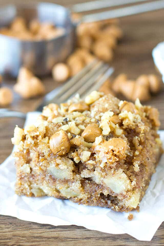 apple snack cake with butterscotch chips
