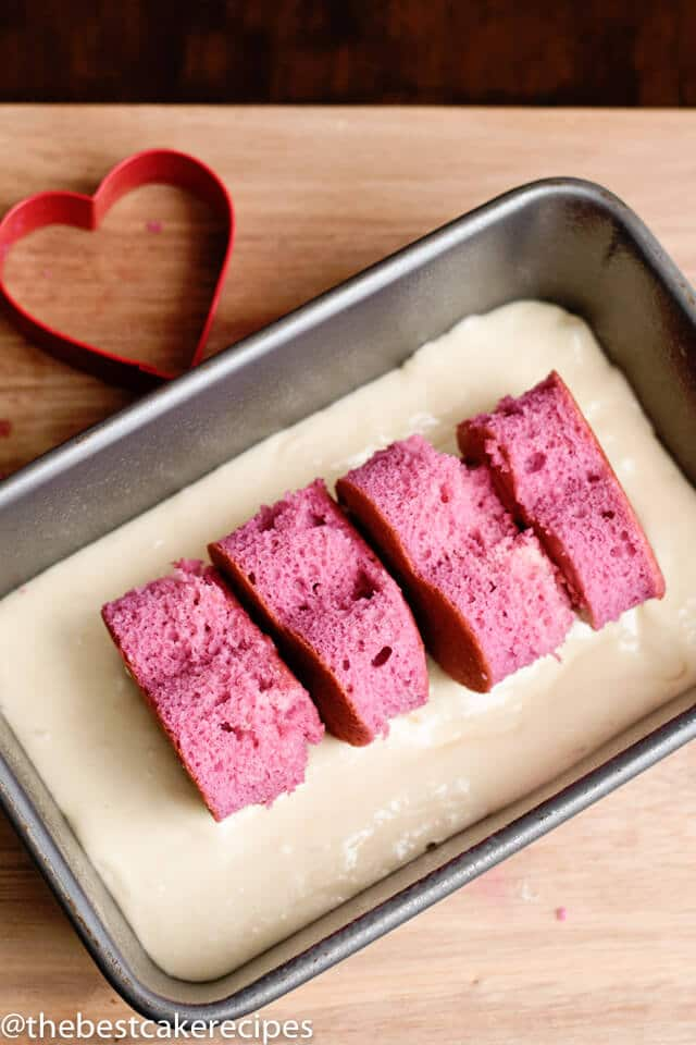 how to make a hidden heart loaf cake
