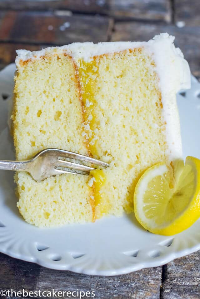 Lemon Cake From Scratch Recipe {With Lemon Curd Filling}
