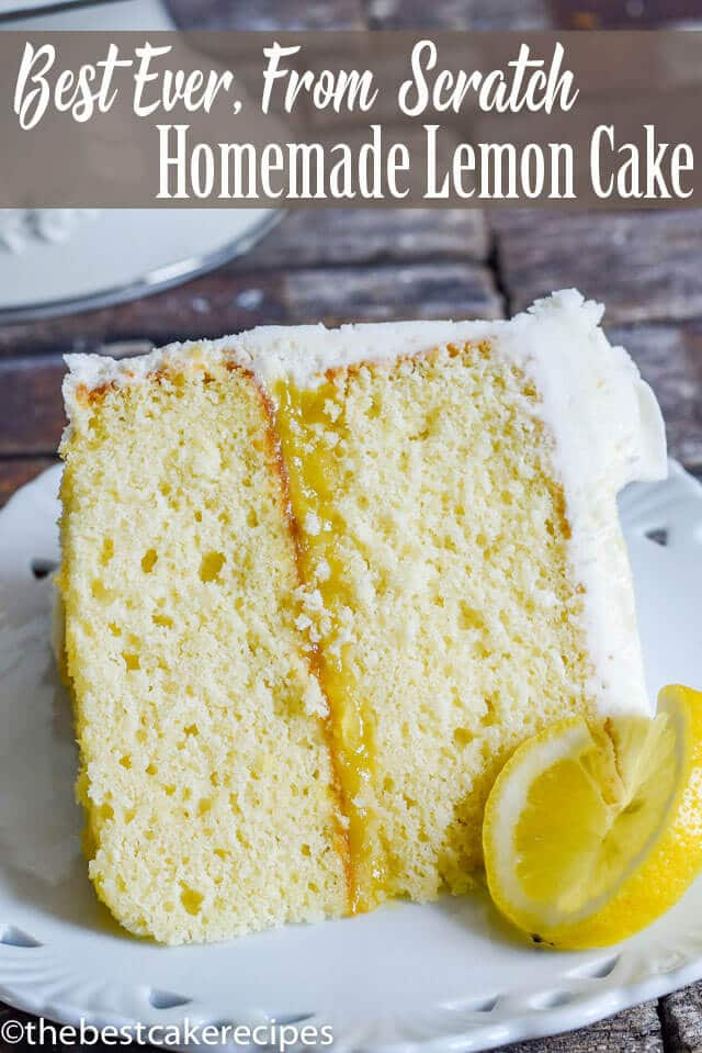 This homemade lemon cake is bursting with lemon flavor! With a lemon cake base, lemon filling and lemon buttercream, you'll have the perfect cake to get everybody in the mood for spring.