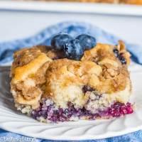 {Homemade Buttermilk Blueberry Cake}