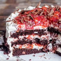 Homemade Black Forest Cake