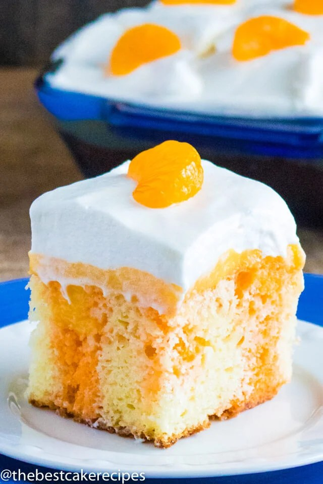 how to make orange poke cake