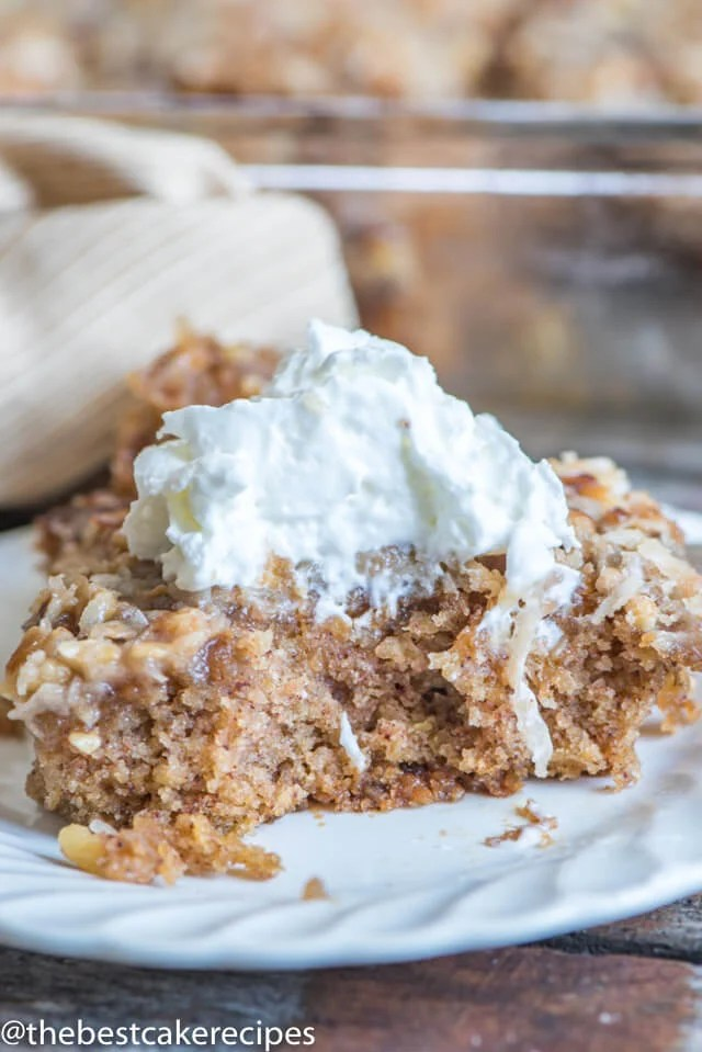 oatmeal cake with coconut topping
