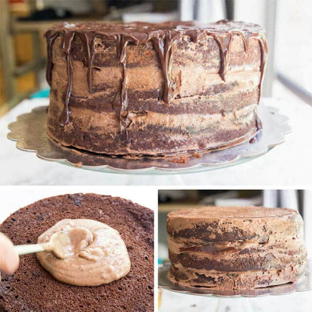 how to assemble a chocolate cake collage