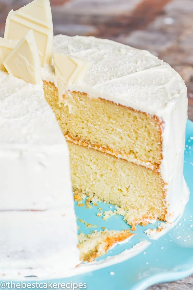 White Chocolate Cake Recipe From Scratch W White Chocolate Frosting