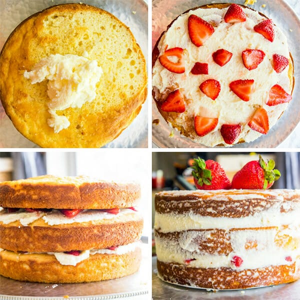 how to make a fruit layer cake collage