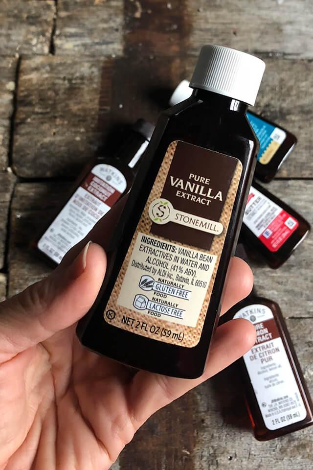 A bottle of vanilla extract