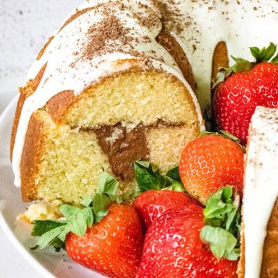 Whipped Ganache Bundt Cake