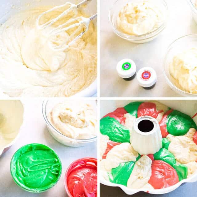 how to make christmas bundt cake collage