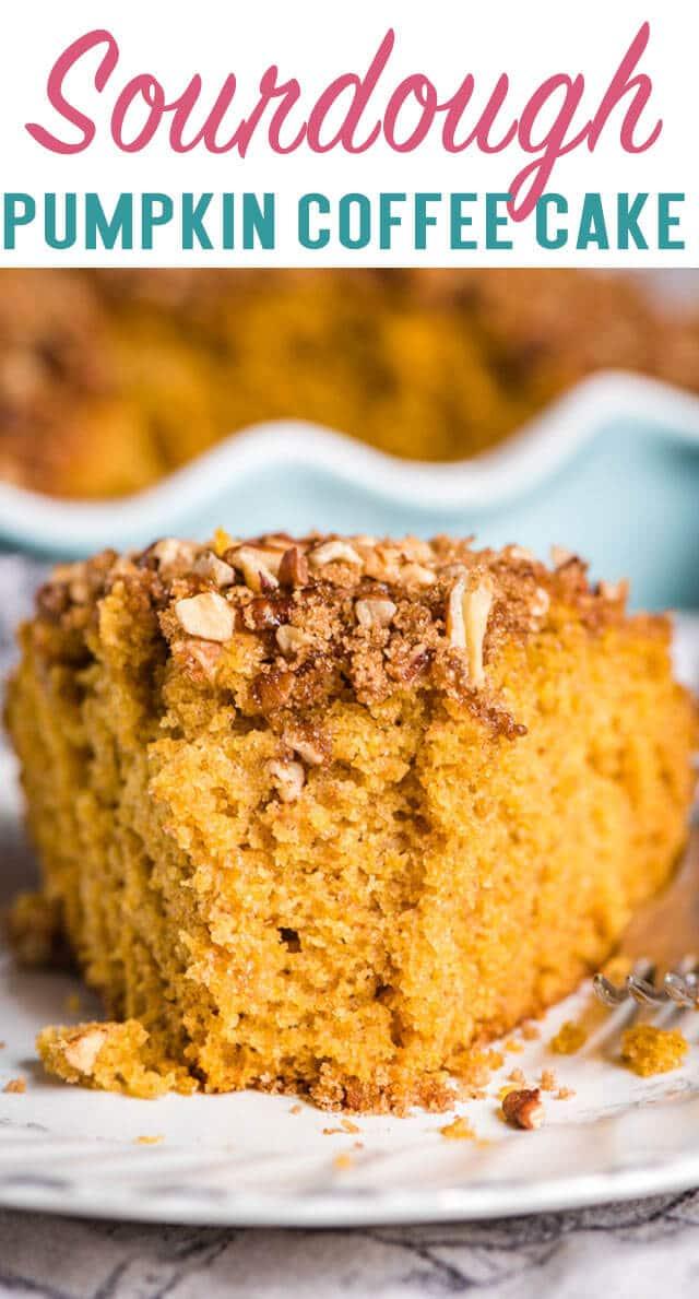 pumpkin sourdough coffee cake title image