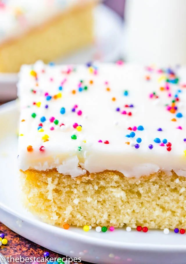 Fabulous White Texas Sheet Cake Recipe Easy Homemade White Cake Funny Birthday Cards Online Elaedamsfinfo