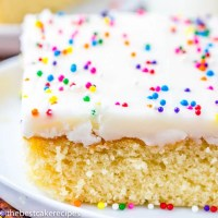 easy white sheet cake recipe