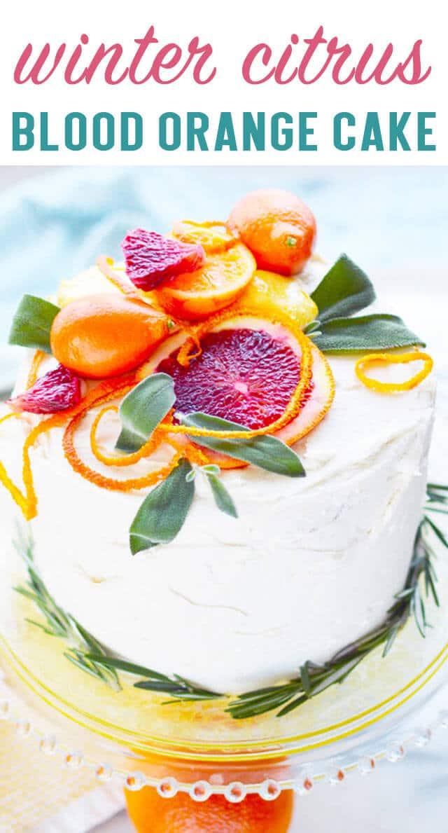 winter citrus cake title image