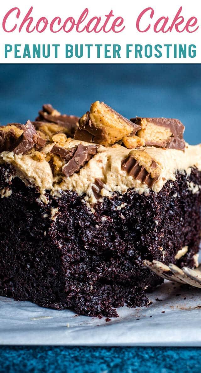 chocolate peanut butter cake title image