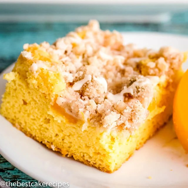 square image of Peach Crumb Cake
