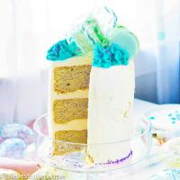 three layer Easter Layer Cake