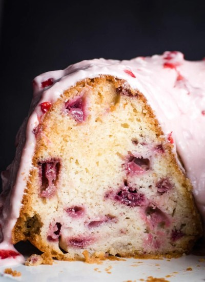 Inside a Fresh Strawberry Bundt Cake
