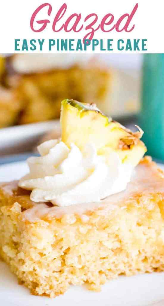 glazed pineapple cake title image