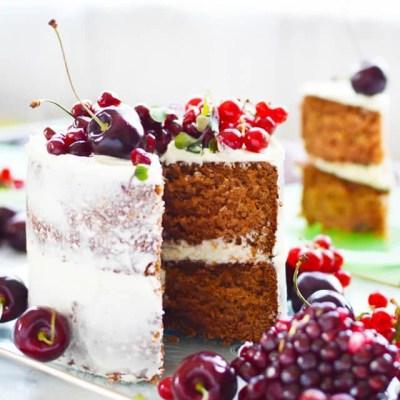 Pomegranate Layer Cake