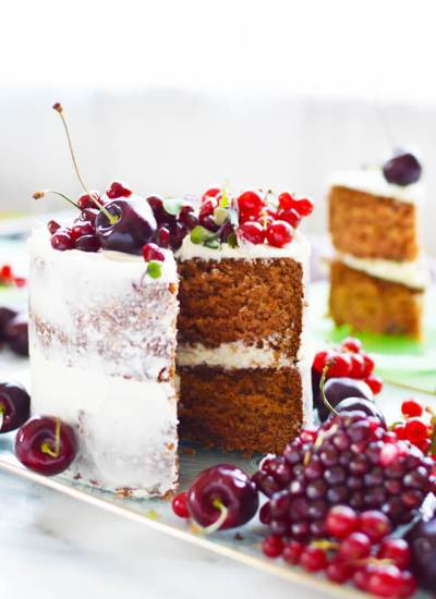 Pomegranate Layer Cake two layers
